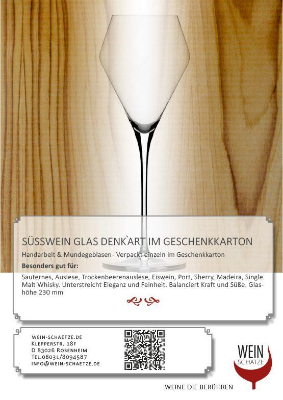 Süßwein Glas Denk`Art im Geschenkkarton
