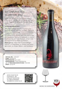 BATONNAGE Red Scorpion 2013