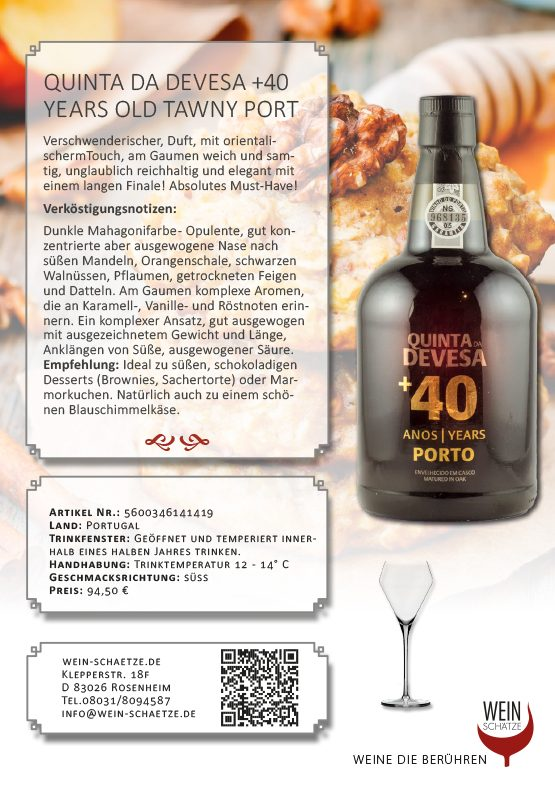 Quinta da Devesa +40 Years old Tawny Port5600346141419