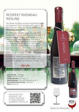 RESSpekt Rheingau Riesling 100093