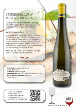 STEINBÜHEL 1ÖTW Riesling Kremstal 2015 9120008895772
