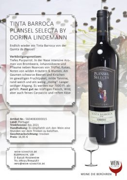 Wein Schätze : Tinta Barroca Plansel Selecta by Dorina Lindemann 5604083000015