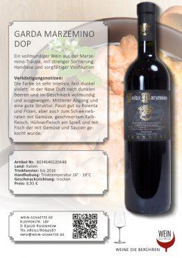 Wein Schätze 8034140220648: Garda Marzemino DOP