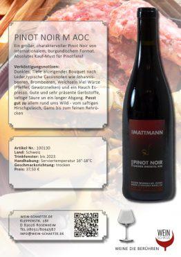 Wein Schätze 100130: Pinot Noir M AOC