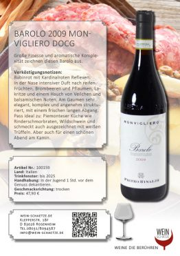 Barolo 2009 Monvigliero DOCG - 100159