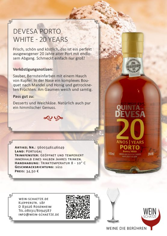 Devesa Porto White - 20 years - 5600346146049