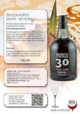 Devesa Porto White - 30 years -5600346426035