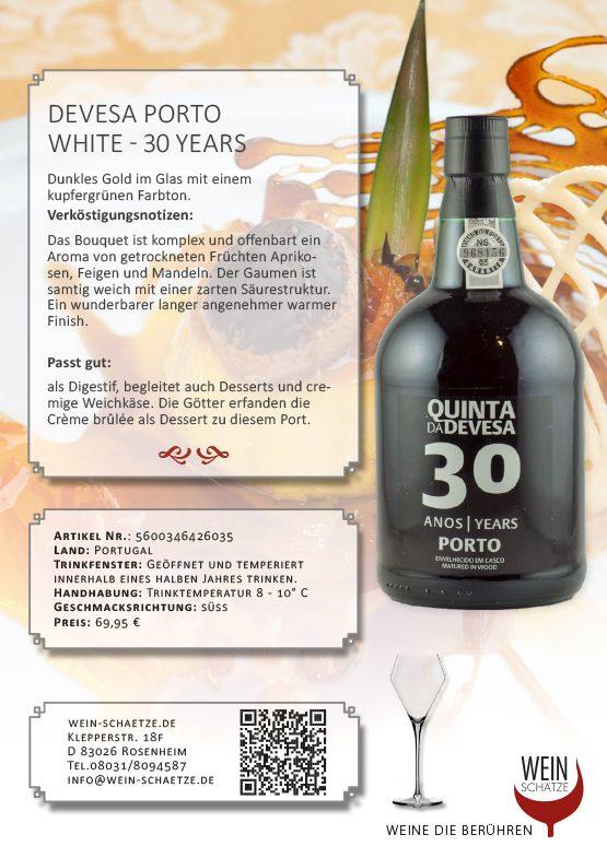 Devesa Porto White - 30 years -5600346426035