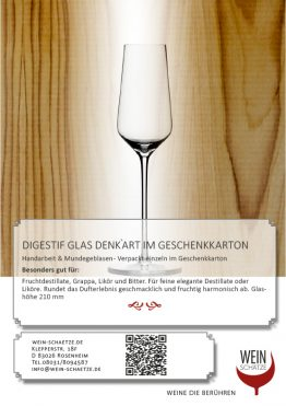 Digestif Glas Denk`Art im Geschenkkarton