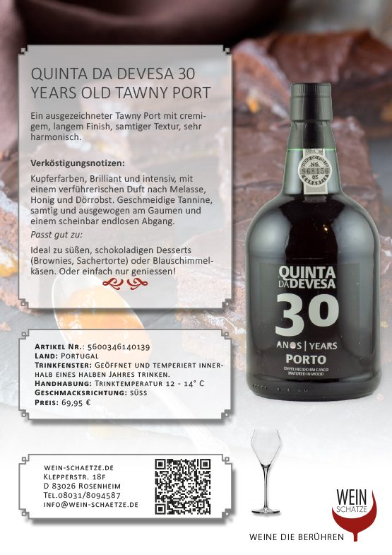 Quinta da Devesa 30 Years old Tawny Port - 5600346140139