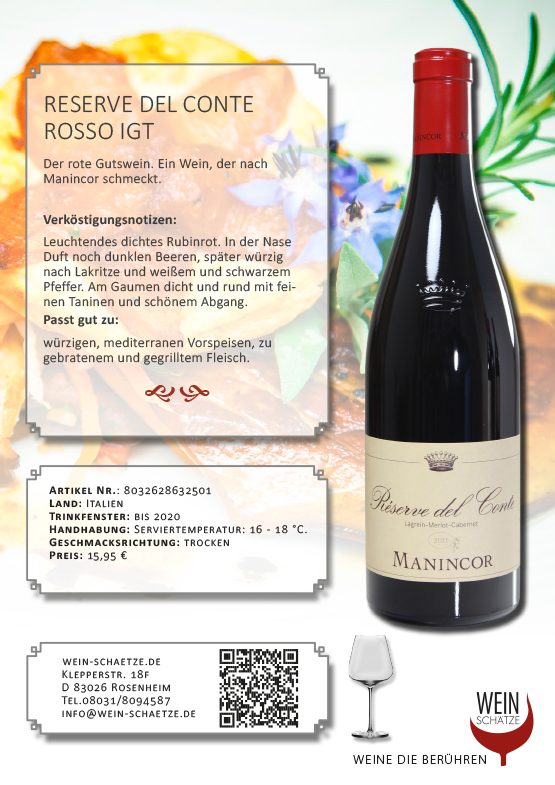 Reserve del Conte Rosso IGT - Art. Nr. 8032628632501