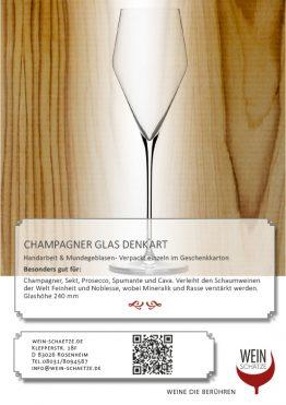 Champagner Glas Denk`Art