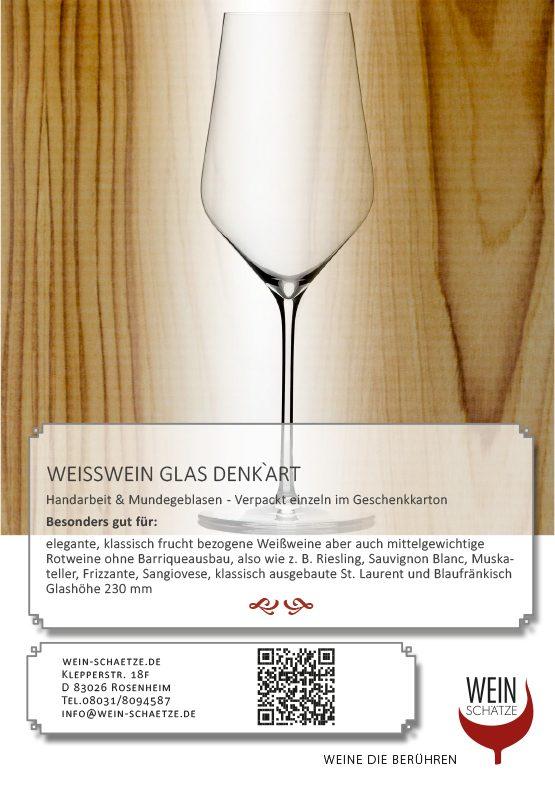 Weiswein Glas Denk`Art im Geschenkkarton